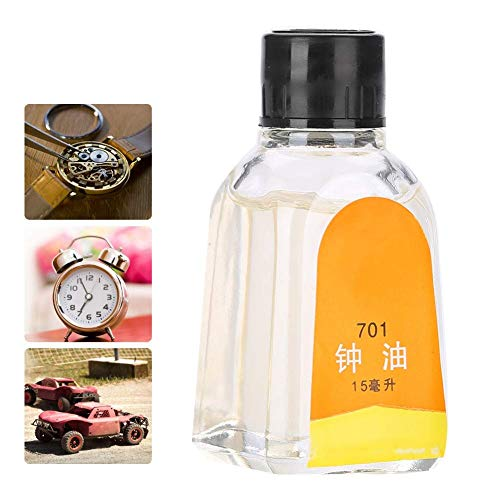 Series 2.625' Mechanical Oil - Naroote Watch Oil Clock Repair Tool Lubricating Maintenance Oil 15ML for Antique Mechanical Pocket Watches, Kinematic Viscosity: 17-21cSt (50℃)