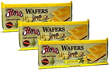 Wafer Cookies by Flora - Italian Wafers Vanilla - 5.3 oz (Pack of 3)