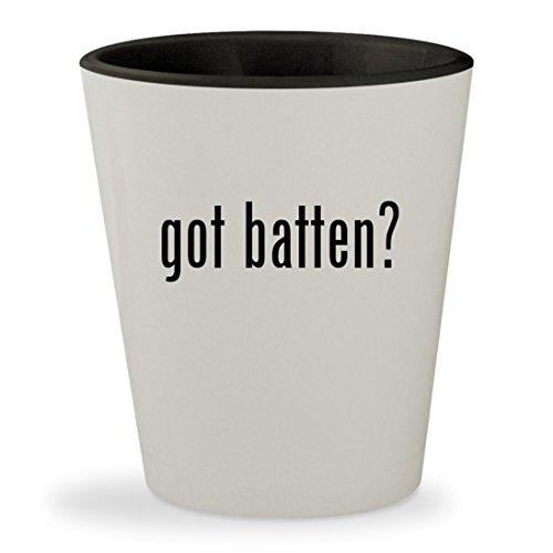 Fiberglass Battens (got batten? - White Outer & Black Inner Ceramic 1.5oz Shot Glass)