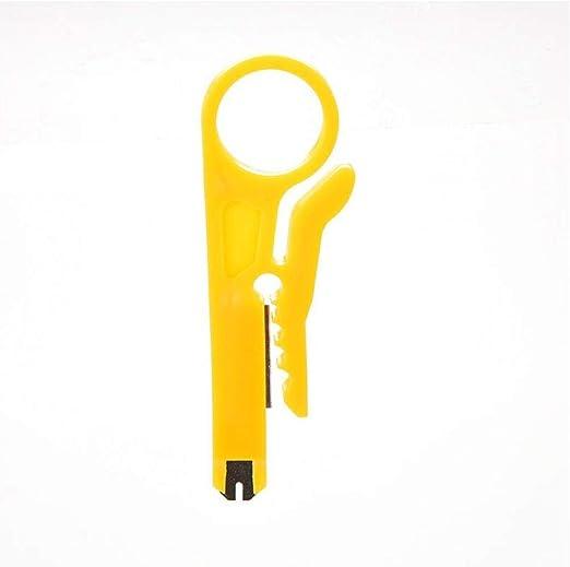 Onsinic 9 Centimetri Mini S ppers Cavo di Rete Pinza Giallo UTP STP taglierina Cavo del Legare di Telefono S pper