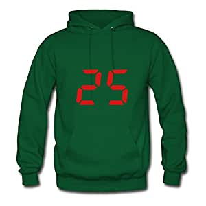 Personalized Green Women Lovely X-large Diatinguish 25 Cotton Hoodies
