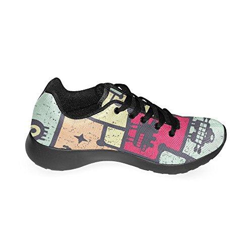 Mujer Lona Para Running de Zenzzle de Zapatillas Negro Negro qgW4Hg1Fxw
