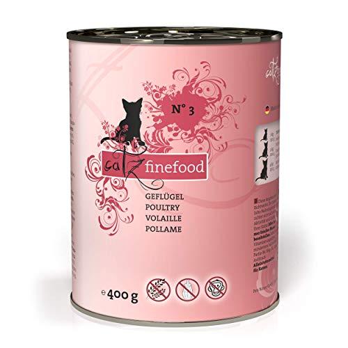 catz finefood N° 3 Geflügel Feinkost Katzenfutter nass mit viel Fleisch, Premium Nassfutter für Katzen ohne Getreide…