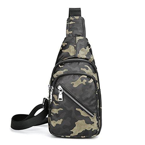 Tacnhen Men Camouflage Chest Bag Large Capacity Tablet Casual Fashion Sling Bag Shoulder Crossbody Bag Tanchen new