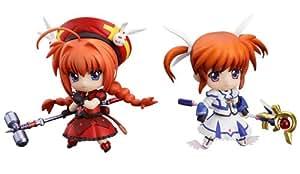 Good Smile Magical Girl Lyrical Nanoha: Innocent Nanoha and Vita Nendoroid Petite Action Figure, 2-Pack