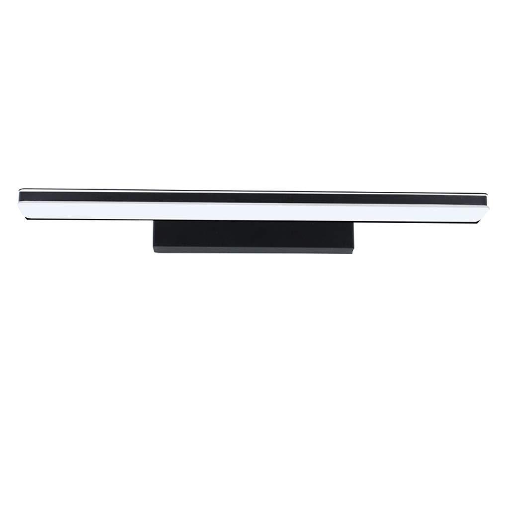 FJH Badezimmerspiegel Scheinwerfer Wasserdicht Anti-fog Led Spiegel Scheinwerfer Bad Beleuchtung Make-Up Lampe Wandleuchte (Farbe   SCHWARZ-90cm)