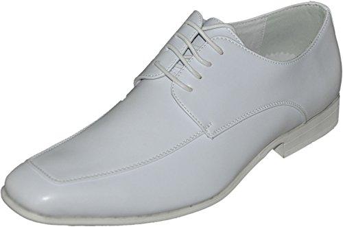 Zapatos de cordones con forro interior piel t01all Blanco - blanco