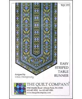 (The Quilt Company Easy Striped Table Runner Sewing Patterns)