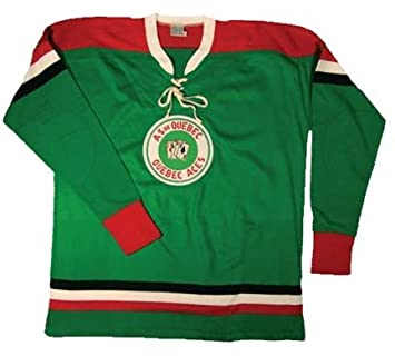 7b2cf806a Jean Beliveau 1952 Quebec Aces  9 Authentic Hockey Jersey from Ebbets Field  Flannels
