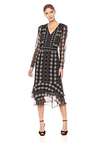 Nanette Lepore Women's Fortune Teller Dress, Black/Ivory 4
