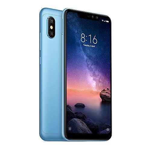 "Xiaomi Redmi Note 6 Pro 64GB + 4GB RAM 6.26"" Dual Camera LTE Factory Unlocked Smartphone - Global Version (Blue)"