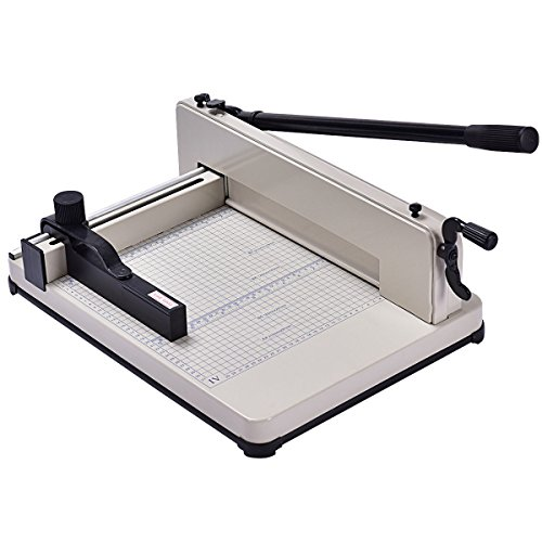 - Giantex 12'' Guillotine Paper Cutter, Heavy Duty A4 Trimmer Machine with Commercial Metal Base and 400 Sheet Large Capacity for Home and Office, Paper Trimmer