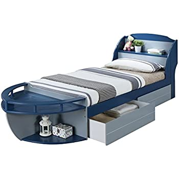 Amazon.com: Furniture of America Youth Boat Design Bed with Trundle ...
