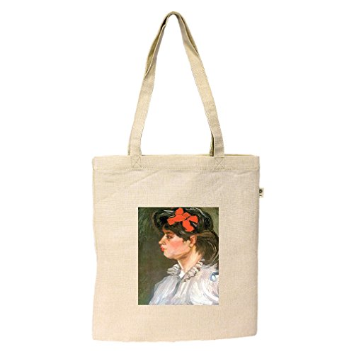 Portrait Of Eugene Boch #1 (Van Gogh) Hemp/Cotton Flat Market Bag - Or In Shopping Eugene