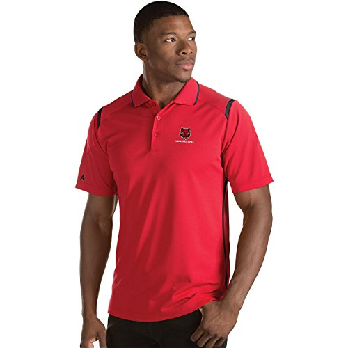 ANTIGUA MEN'S ARKANSAS STATE RED WOLVES MERIT POLO SHIRT RED/BLACK XL (Antigua Red Classic Shirt)
