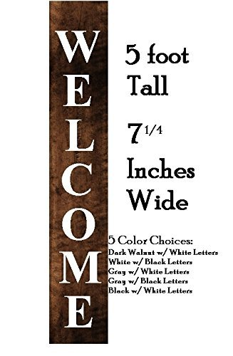 Amazoncom Large Welcome Wood Painted Sign Home Porch Sign Wood