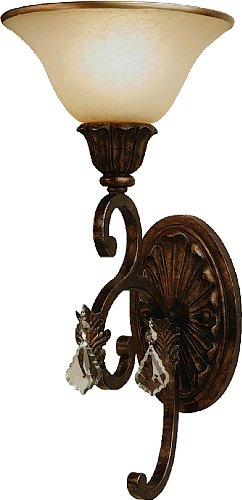 Artcraft Lighting Florence 1-Light Wall Sconce Light, Rich Bronze