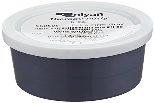 Sammons Preston Therapy Putty for Physical Therapeutic Hand Exercise, Flexible Putty for Finger and Hand Recovery and Rehabilitation, Strength Training, Occupational Therapy, 6 Ounce, Extra Firm, Gray - Blue Color Coded Gait Belt