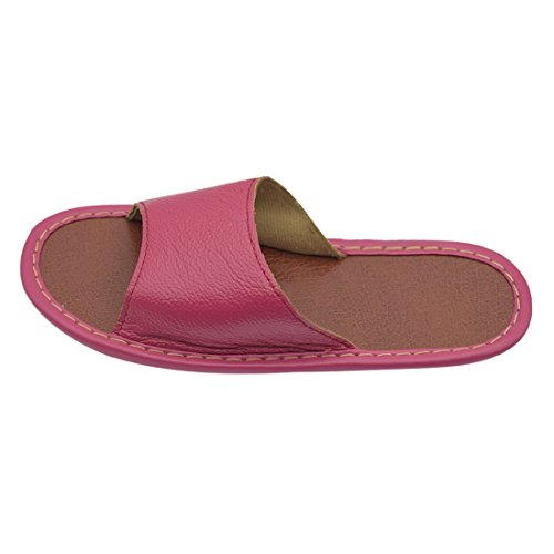 Indoor Summer Leather Slippers Genuine House Women Maylian Rose For 75fqw7