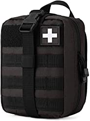Gonex MOLLE Medical Pouch EMT First Aid Pouch Rip-Away IFAK Tactical Utility Pouch for Outdoor Activities