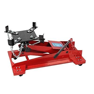 1100LB 0.5 Ton Low Profile Transmission Hydraulic Jack Auto Shop Repair Low Lift