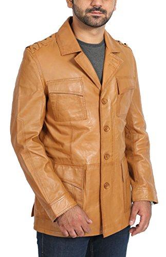Bronzer En Safari Chris Fashion Blazer Des Manteau Cuir Goods Hommes A1 Designer Chasseurs Veste Ajusté Reefer Réal wTYC8TFqx