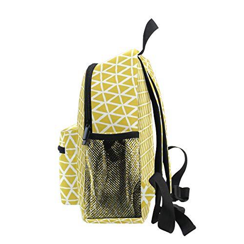 zipper Bookbag with FANTAZIO weaving School for Triangles bag 5 kidsBackpacks kindergarten Daypack primary 8q8wX