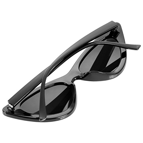 de retro Gafas mujer Sunglass gato Marco negro de sol SODIAL sol de Marco ojo negro Gafas femeninas S17062 negro negro de vintage de UV400 Gafas OCfIzPq