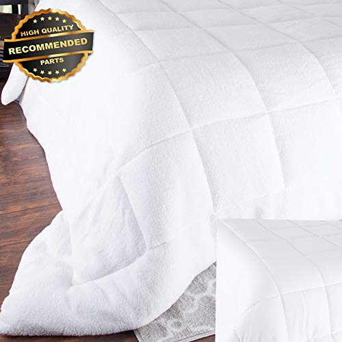 - Gatton Premium New Bluestone ReversibDown Altertive Comforter with Sherpa White Full/Queen | Style Collection Comforter-311012192