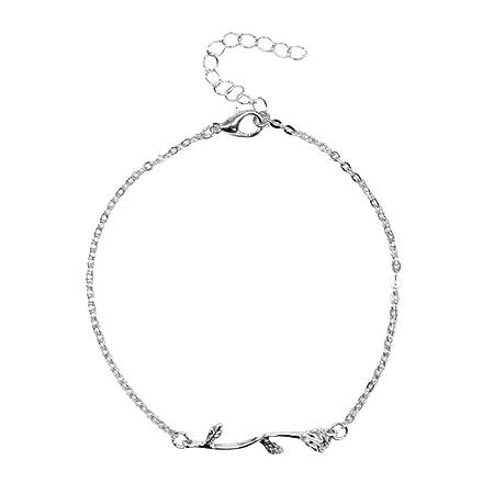 Fablcrew Costume popolare Cavigliera Stella Elegante Catena cavigliera catena piede argento catena per ragazze