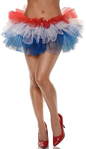 [Underwraps Women's Tutu Costume, Red/White/Blue] (Diy Tutu Costumes)