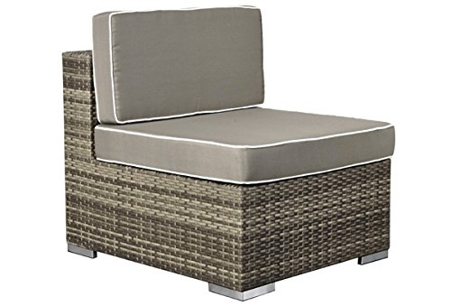 Rattan Loungeelement Espace Exclusive Sofa Mitte inkl. Polster - Farbe: braun meliert