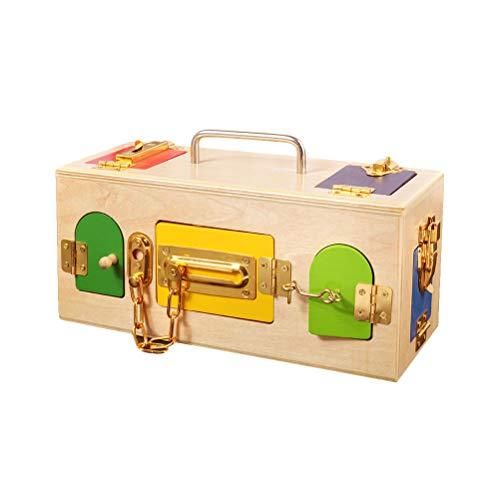 Toyvian Caja de Cerradura de Madera para Juguetes Educativos de Preescolar de Niños