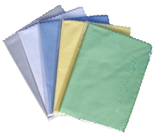 ColorYourLife 10pcs Microfiber Cleaning Polishing Cloths for LCD Screen of Electronic Devices and Glasses Optics etc in Retail Packaging