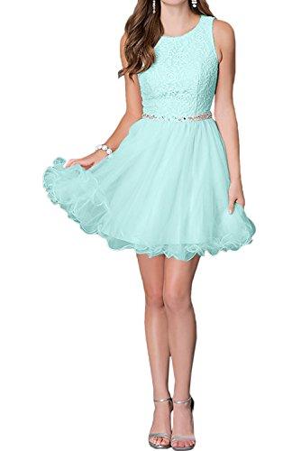 Ivydressing Brautjungfernkleider Spitze Rundkragen Sweetheart Abendkleid Kurz Sage Ballkleid 8pT78qwxr