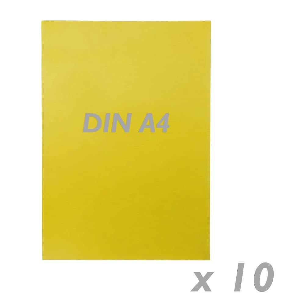 PrimeMatik - Cartel Etiqueta magnética Flexible Amarillo de A4 con imán Paquete de Amarillo 10 Unidades 61b9dc