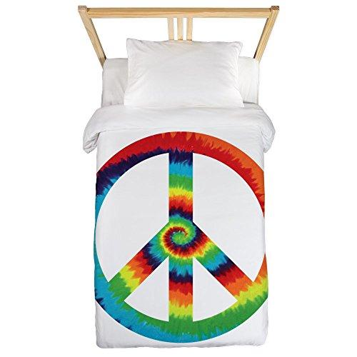 Twin Duvet Cover Tye Dye Peace Symbol by Royal Lion