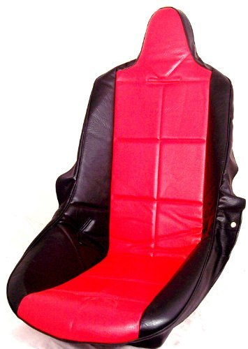 Buggy Dune Seats (Empi 62-2351 Red Vinyl High Back Poly Seat Cover. Dune Buggy Vw Baja Bug, Each)