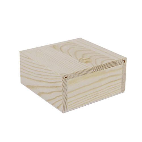 MagiDeal Nature Wooden Box Storage for Jewellery Essence Oil Bottles Handmade Soap