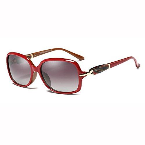Caja Tea WX Gafas Retro Color Cara Manejar Cara Pequeña Pequeña Redonda Sol Luz xin Elegante Gradual Rojo Cambio Moda Polarizada De nHgHCIq