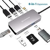 VANKYO USB C Hub 8-in-1 Adapter, 1Gbps Ethernet Port, SD Card Reader, USB