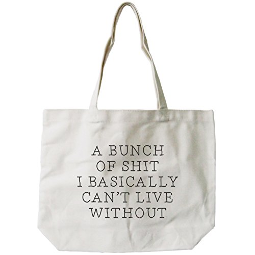 365 Printing Women's Funny Can't Live Without Canvas Tote Bag Natural