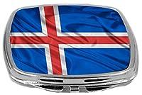 Rikki Knight Compact Mirror, Iceland Flag