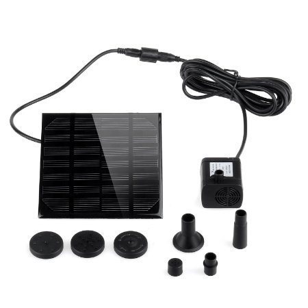Solar Pump, Danibos Upgraded Solar Power Water Pump Panel Kit Submersible Water Pump for Pool...