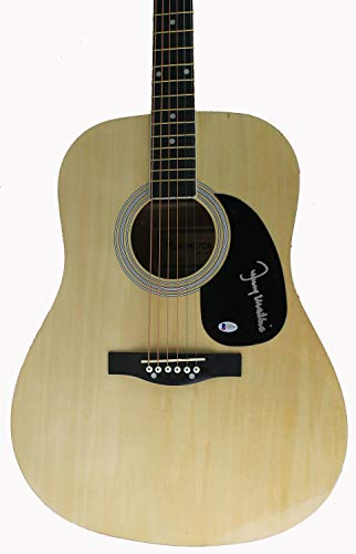 Johnny Mathis Singer & Songwriter Autographed Signed Acoustic Guitar Bas #D78399 - Certified Signature