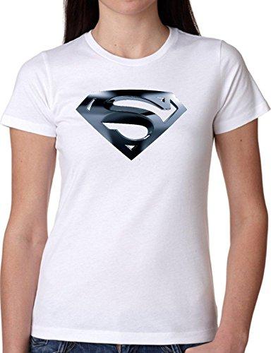 T SHIRT JODE GIRL GGG22 Z0150 SUPER HERO LOGO COMICS MAN AMERICA FUNNY FASHION COOL BIANCA - WHITE M