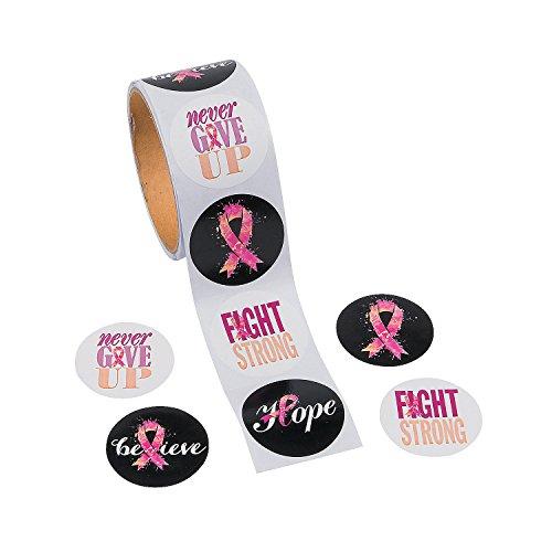 Fun Express Pink Ribbon Sayings Stickers