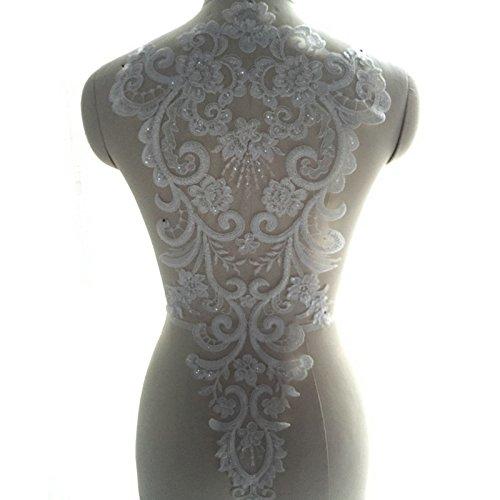 French Lace Handmade Beads 3d Wedding Dress Applique Diy