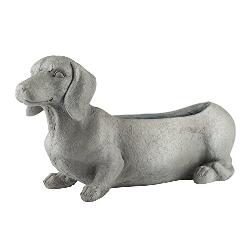 WHAT ON EARTH Dachshund Dog Planter - Indoor/Outdoor - 23