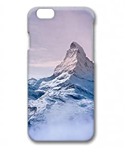 E-luckiycase PC Hard Shell Everest Mountain Pink Tones Sky for Iphone 6 3D Case